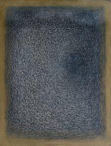grattage grigio su tela G.G. 93