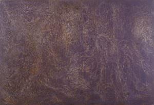grattage viola - figurativo - Deposizione